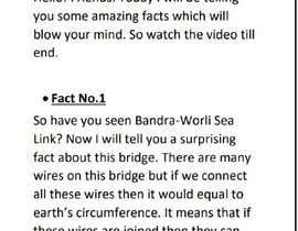 Nro 1 kilpailuun Video Script käyttäjältä Ozabhawana79