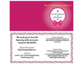 #60 untuk wedding ceremony invitation card oleh mdaminurislam57