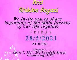 #52 untuk wedding ceremony invitation card oleh jony2021