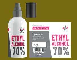 #48 for Alcohol spray 125ml label design by shiblee10