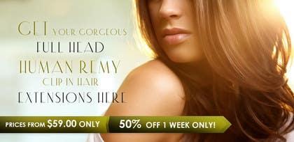 #16 untuk Design a Banner for hair brand oleh uheybaby