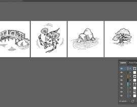 #22 untuk line art for background drawings on website oleh One13