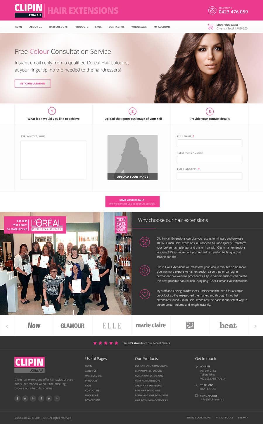 Konkurrenceindlæg #                                        2                                      for                                         Design a Wordpress Mockup for hair brand