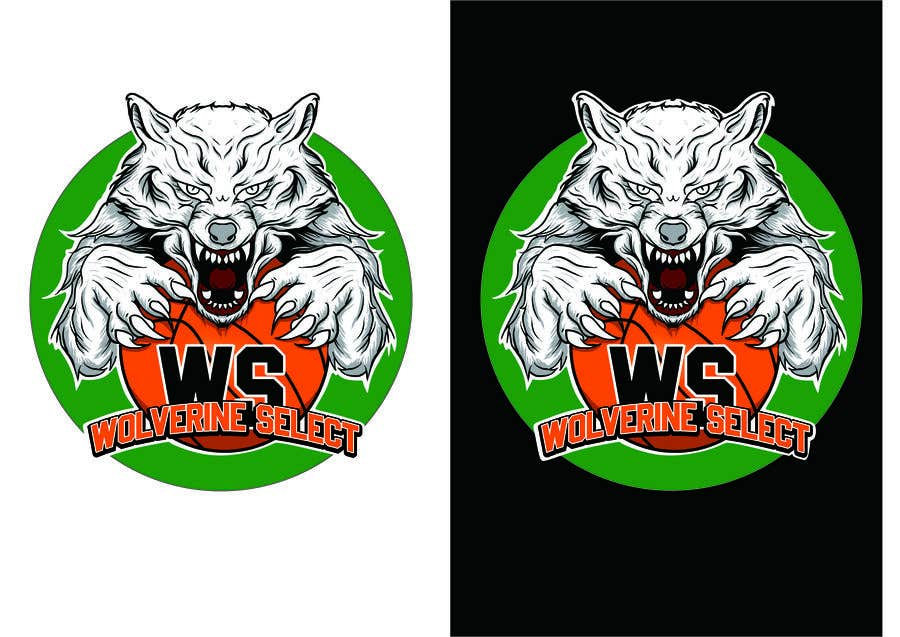 Konkurrenceindlæg #                                        18                                      for                                         Logo for Basketball team (Wolverine Select)