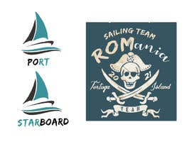 #3 for 3 logos in corel for a piarte and sailing inspired t-shirt by RAJ4008