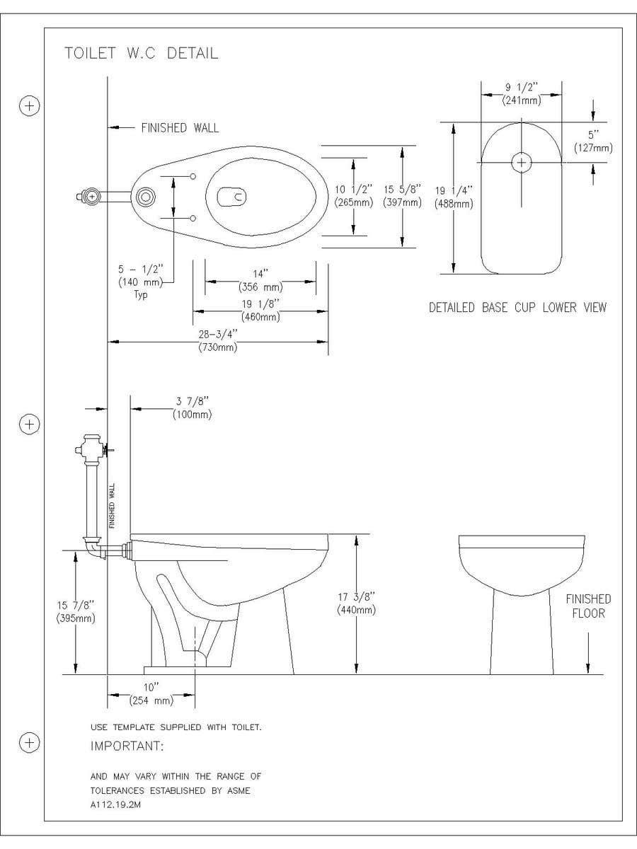 Bài tham dự cuộc thi #                                        5                                      cho                                         Technical Drawings for Plumbing/Bathroom Spec Sheets