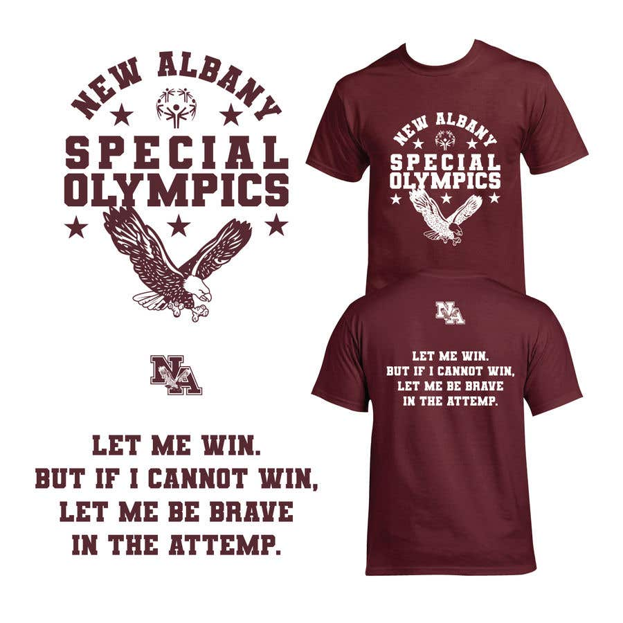 Konkurrenceindlæg #                                        120                                      for                                         New albany Special Olympics Tee Shirt Design