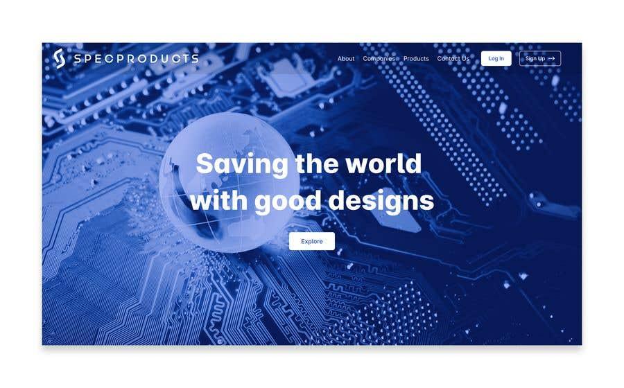 Kilpailutyö #                                        20                                      kilpailussa                                         Build a UX for specproduct.com