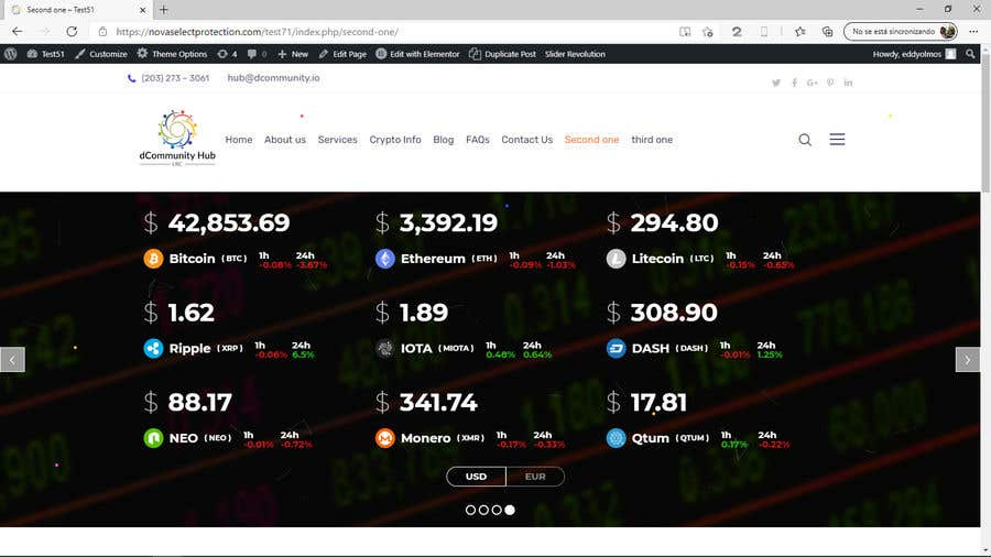 Penyertaan Peraduan #                                        17                                      untuk                                         Contest – Crypto Information Website Section: $100