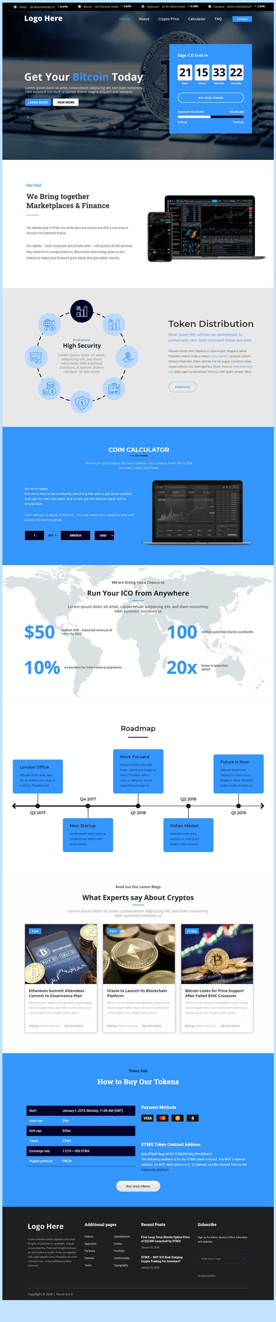 Penyertaan Peraduan #                                        4                                      untuk                                         Contest – Crypto Information Website Section: $100