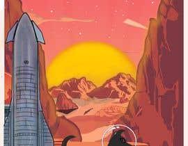 #8 para High-Resolution Retro Mars Posters Featuring Ziggy the Puggle por kalerproduction