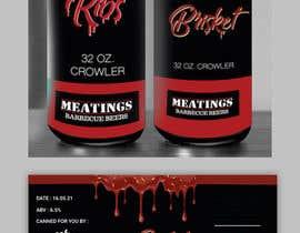 #22 for Design craft beer label for barbecue restaurant af TheCloudDigital