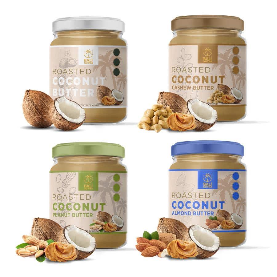 Konkurrenceindlæg #                                        48                                      for                                         Food Label design (4 x flavors of Butter, Almond, Peanut, Cashew, Original)