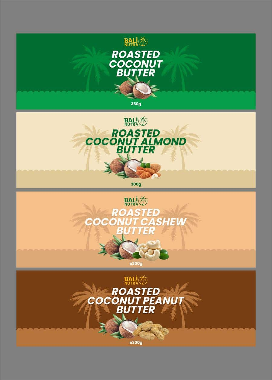 Konkurrenceindlæg #                                        10                                      for                                         Food Label design (4 x flavors of Butter, Almond, Peanut, Cashew, Original)