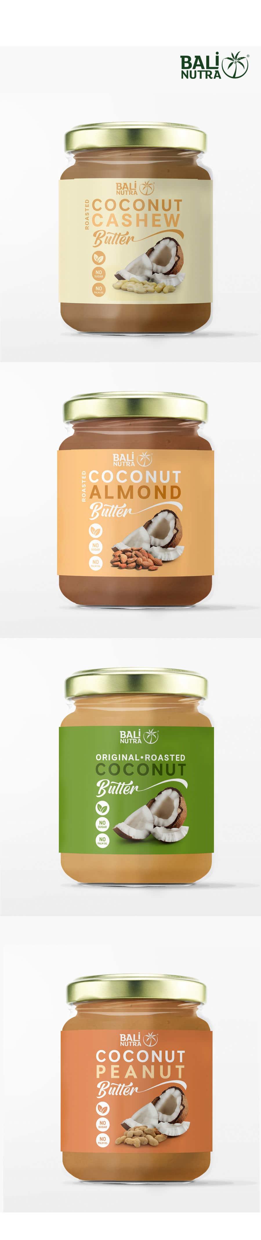 Konkurrenceindlæg #                                        32                                      for                                         Food Label design (4 x flavors of Butter, Almond, Peanut, Cashew, Original)