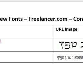 Nro 12 kilpailuun Go and  Find the 2 Hebrew fonts ttf file format file or where it can be bought käyttäjältä M0hammadHaseeb