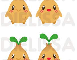 #78 untuk Cute Character Design to be used for Logo Branding - A Cute Seed Character oleh Dielissa