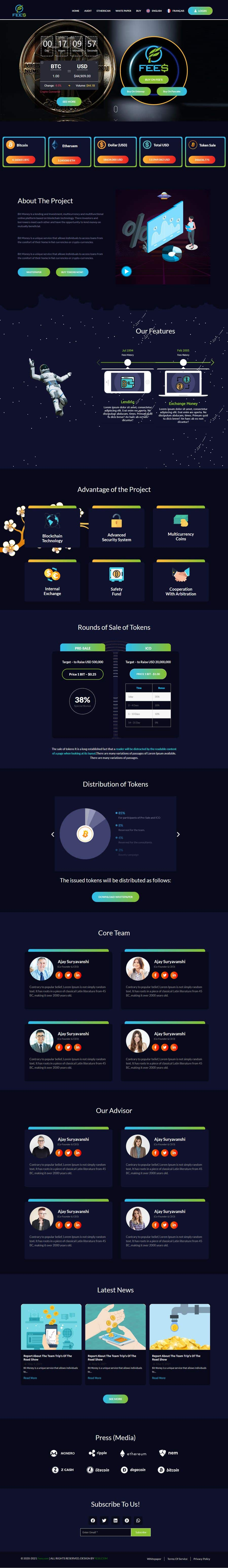 Contest Entry #                                        44                                      for                                         Design Website for Crypto Coin