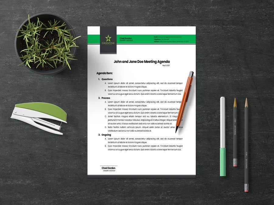 "Penyertaan Peraduan #                                        66                                      untuk                                         Design a Letterhead, Agenda, Microsoft Word ""Style Set"""