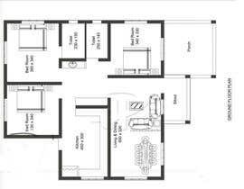 Nro 32 kilpailuun Home Floor Plan käyttäjältä SHUVOMOHANTO623