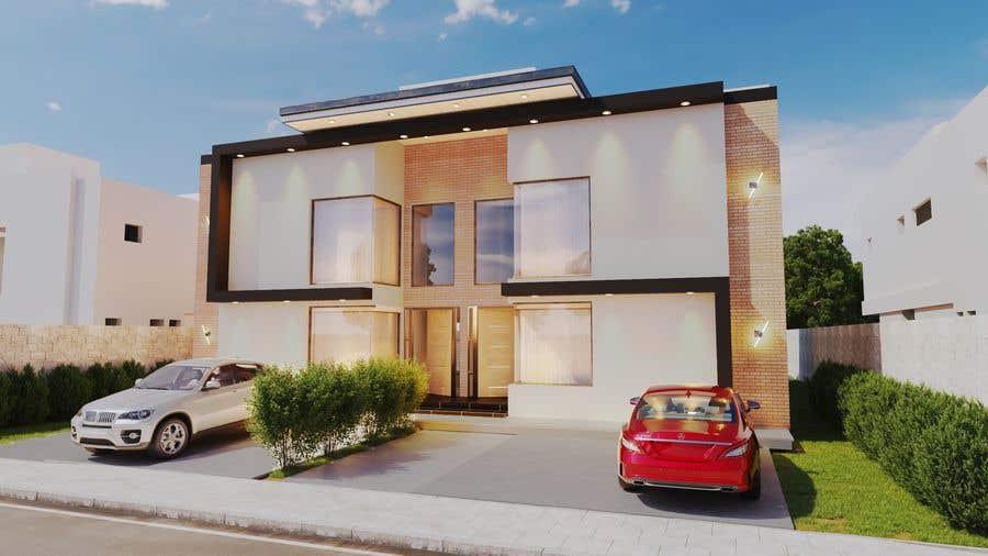 Konkurrenceindlæg #                                        20                                      for                                         Facade duplex house proposal desing