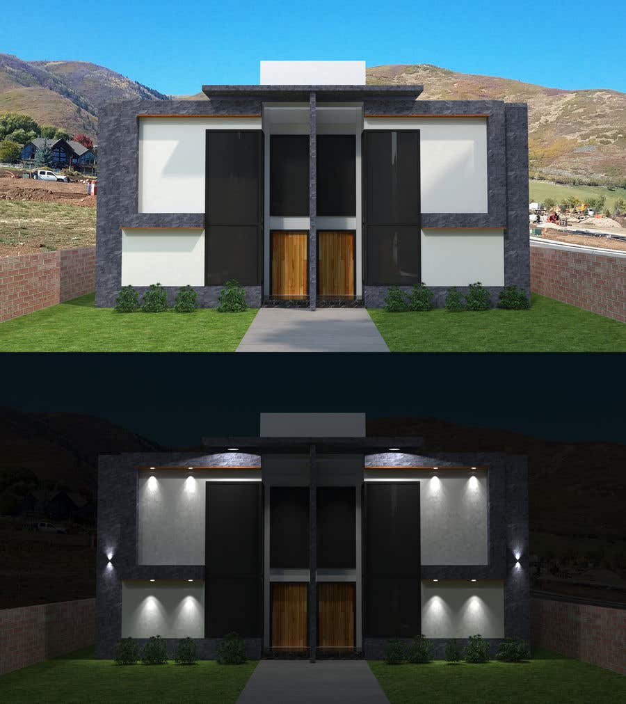 Konkurrenceindlæg #                                        24                                      for                                         Facade duplex house proposal desing