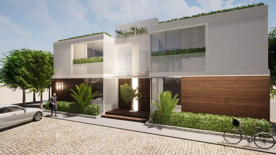 Konkurrenceindlæg #                                        16                                      for                                         Facade duplex house proposal desing
