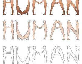#37 untuk We need a vector illustration of the word 'HUMAN' made out of people oleh yanchik7