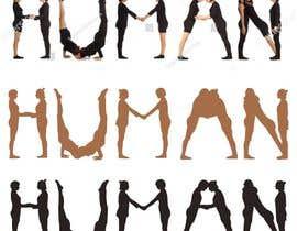 Nro 21 kilpailuun We need a vector illustration of the word 'HUMAN' made out of people käyttäjältä mdmonayeam