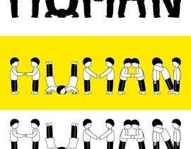 Nro 23 kilpailuun We need a vector illustration of the word 'HUMAN' made out of people käyttäjältä HossamHassan6698