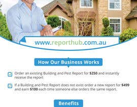 nº 57 pour Design a Flyer for our business www.ReportHub.com.au par Dezign365web