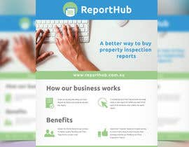 #6 untuk Design a Flyer for our business www.ReportHub.com.au oleh melissacuellom