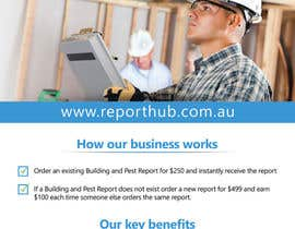 nº 64 pour Design a Flyer for our business www.ReportHub.com.au par damirruff86