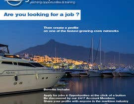 #2 untuk Design a Flyer for Yotspot (a superyacht recruitment company) oleh nenro