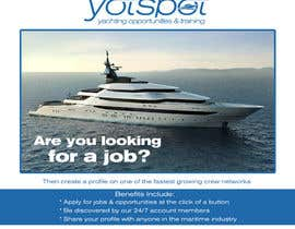 bojandjordjevic tarafından Design a Flyer for Yotspot (a superyacht recruitment company) için no 9