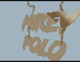 Nro 3 kilpailuun I need a 3D model rendering of a chain. We are looking for the verbiage MikeyPolo to be 3D as a chain pendant. käyttäjältä Nileshkrlayek