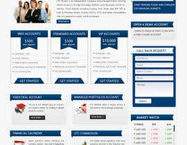 #17 for Design a Website Mockup for finance website af mastersintech