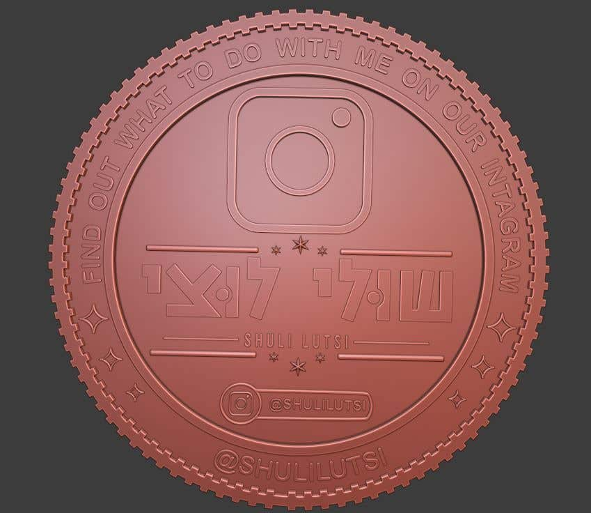 Contest Entry #                                        19                                      for                                         Design a 3D coin for me to 3D print