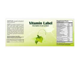 #57 untuk Creating Vitamin Bottle Labels - Will pick 10 Winners oleh illidansw