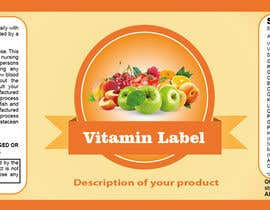 #46 para Creating Vitamin Bottle Labels - Will pick 10 Winners por preethamdesigns