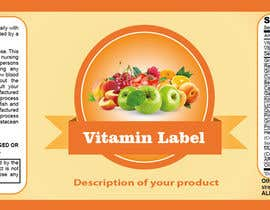 #59 para Creating Vitamin Bottle Labels - Will pick 10 Winners por preethamdesigns