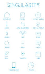 #17 untuk Icon Set Needed in Illustrator for a project based in 2045 oleh nasser3mad