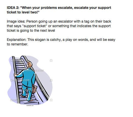 Konkurrenceindlæg #                                        13                                      for                                         Helpdesk Escalation Campaign