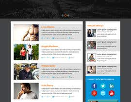 #20 for Design a Website Mockup for Fitness Health Site by xsasdesign