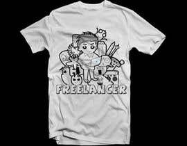 panutsa909 tarafından Create a t-shirt design that best embodies Freelancer's hip and fun nature için no 209