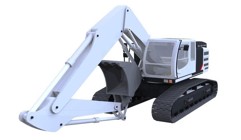 Konkurrenceindlæg #                                        23                                      for                                         3D illustration of a construction machine