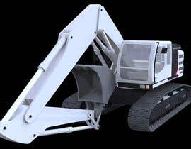 #24 untuk 3D illustration of a construction machine oleh dgonzales83