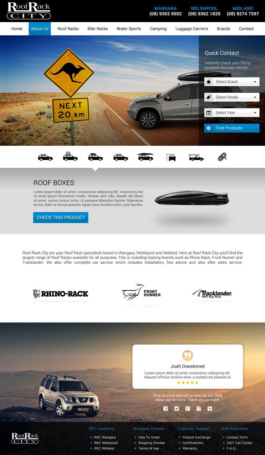 Contest Entry #21 for Design a Website Mockup for Roof Rack Co