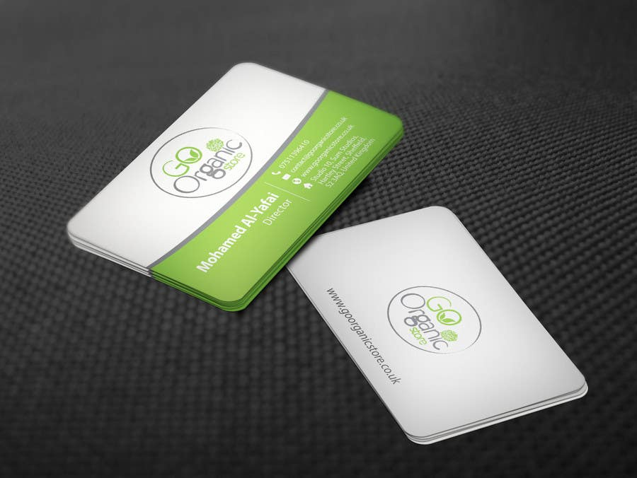 Konkurrenceindlæg #                                        60                                      for                                         Design some Business Cards for Go Organic Store