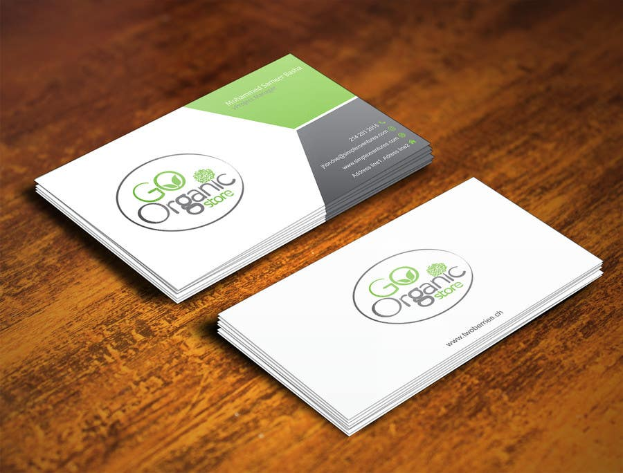 Konkurrenceindlæg #                                        32                                      for                                         Design some Business Cards for Go Organic Store